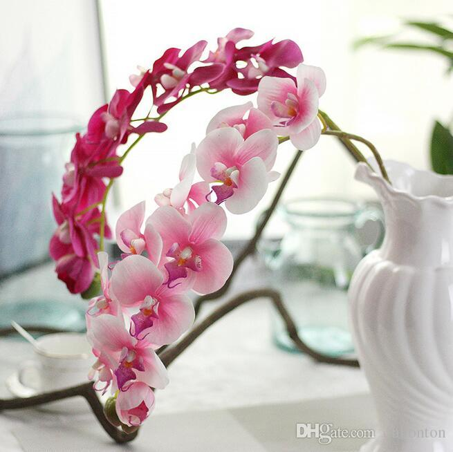 REAL TOUCH ORCHIDS 72cm Artificial Flowers Simulation Princess Butterfly Orchid Phalaenopsis for Wedding Flower rubber coating PF13