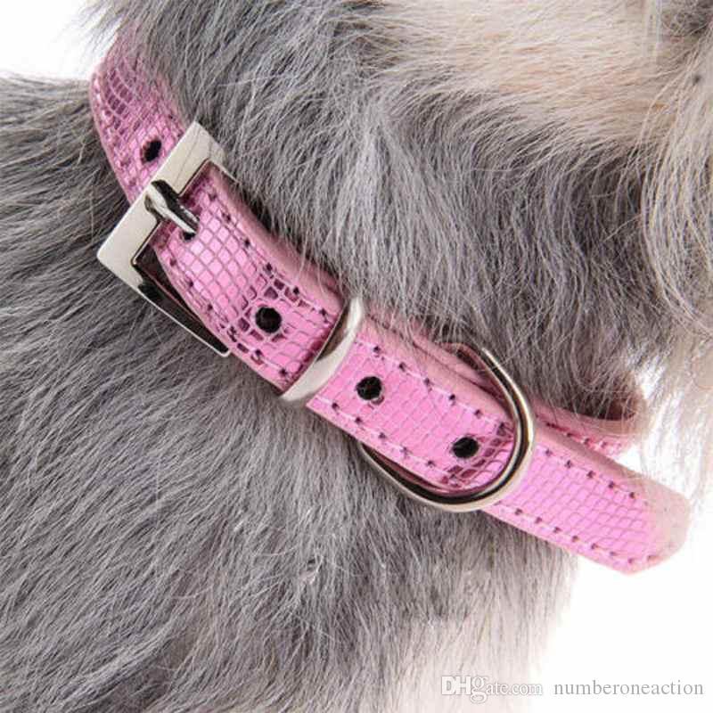 Neue Mode Hund Katze Leder Halsbänder Schöne PU Leder Pet Welpenkragen Kristall Strass Bowknot Halskette