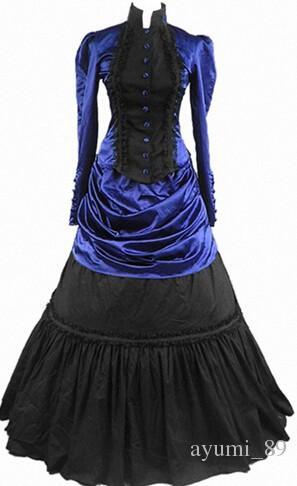 GT009 Lolita Dresses Long Sleeveless New Arrival Women Summer Dress Party Gothic Lolita Costumes Victorian Halloween for Girls