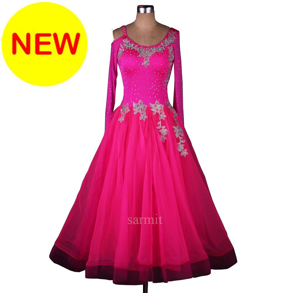 Compre Cadl023 Vestido De Baile De Salón Para Mujer Con Apliques De ...