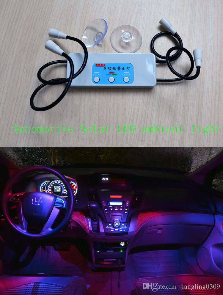 Automotive Solar Led Ambient Light Universal Car Interior Light Auto Accessories Multifunction