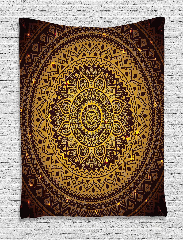 Индийские Богемные Мандала Настенные Декоративные Висячие Гобелены Покрывало Этническое Искусство Броска Цветочное Полотенце Пляжная Медитация Йога Бросок Одеяло
