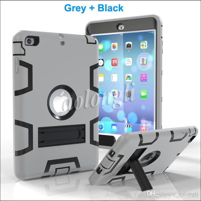 Crianças à prova de choque caso protetor para ipad mini armadura robô corpo inteiro pc silicone capa protetora case para ipad mini 1 mini 2 mini