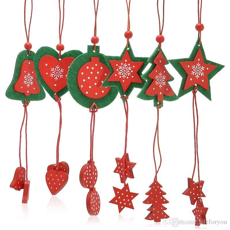 Hot Christmas Ornaments Christmas Tree Heart Star Tree Decorations