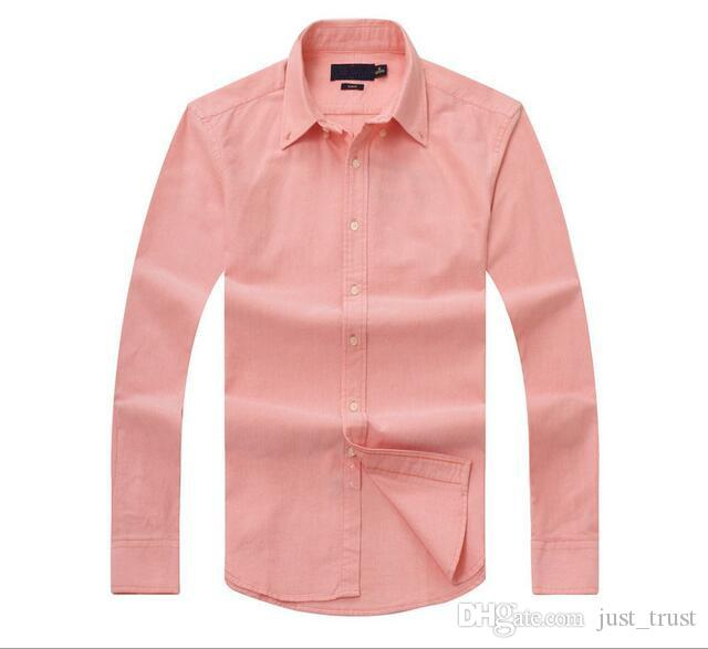 New sales famous customs fit Casual shirts Popular Golf Horse embroidery business Polo shirts Men's long sleeve Clothing