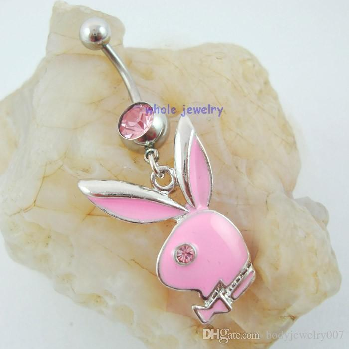 D0233   nice styles Belly Button Navel Rings Body Piercing Jewelry Dangle Accessories Fashion belly pendant Charm Rabbit