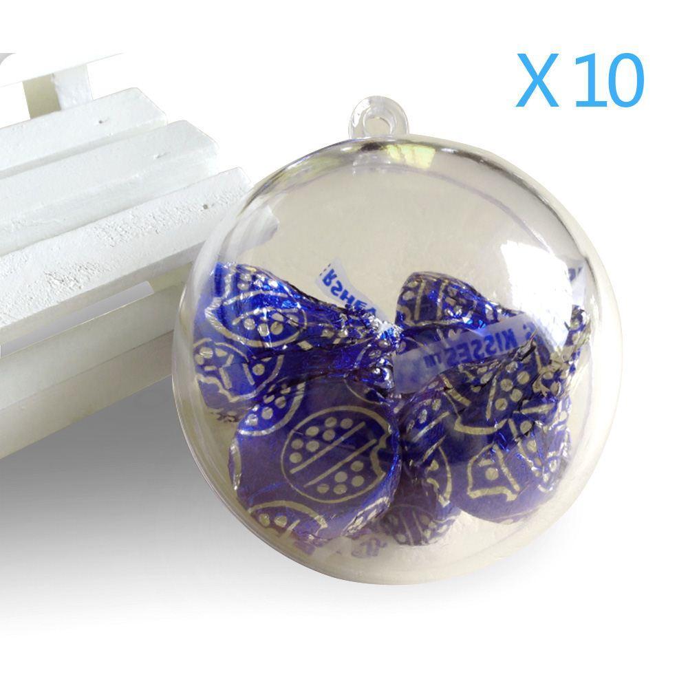 10cm baubles transparent fillable christmas tree ball. Black Bedroom Furniture Sets. Home Design Ideas