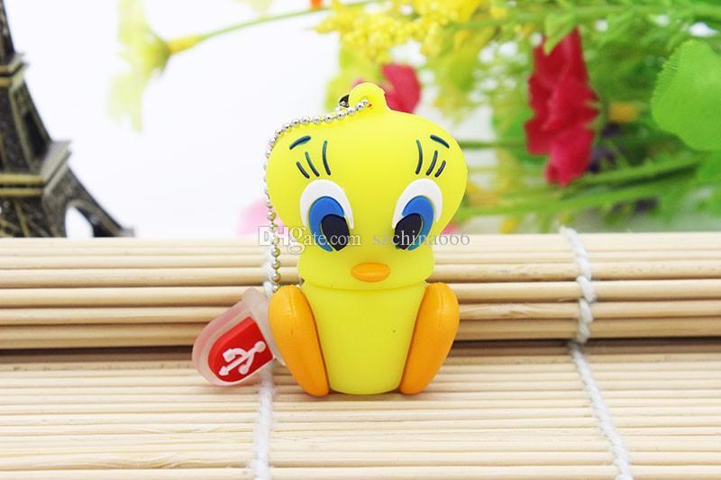 Bande dessinée Ours Daffy Duck Bugs Lapin Chat Tweety Oiseau USB 2.0 Flash Drive U Disque Animal Pendrive Memory Stick Cadeau 1 GB 8 GB 16 GB