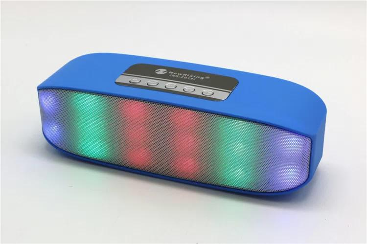 Portable Mini Colorful Flash LED Light Wireless Bluetooth Speaker with Built-in Microphone Support TF/USB FM Radio for Smartphone