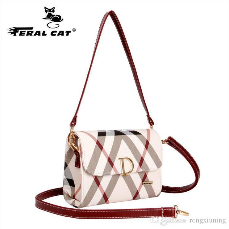 eec8aceb1 Fashion Single Shoulder Bag Lady Pump Belt Hasp Pillow Bag China Hongkong  Brand Feral Cat PU Embossing Double Shoulder Straps Designer Handbags  School Bags ...
