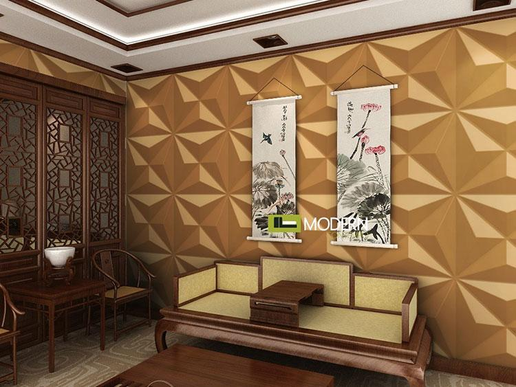 Soundproof High Quality 3D PVC Wall Panel for Bedroom Waterproof Europe Art Wall Sticker for Background 3d Embossed Solid Wallpaper 50*50cm