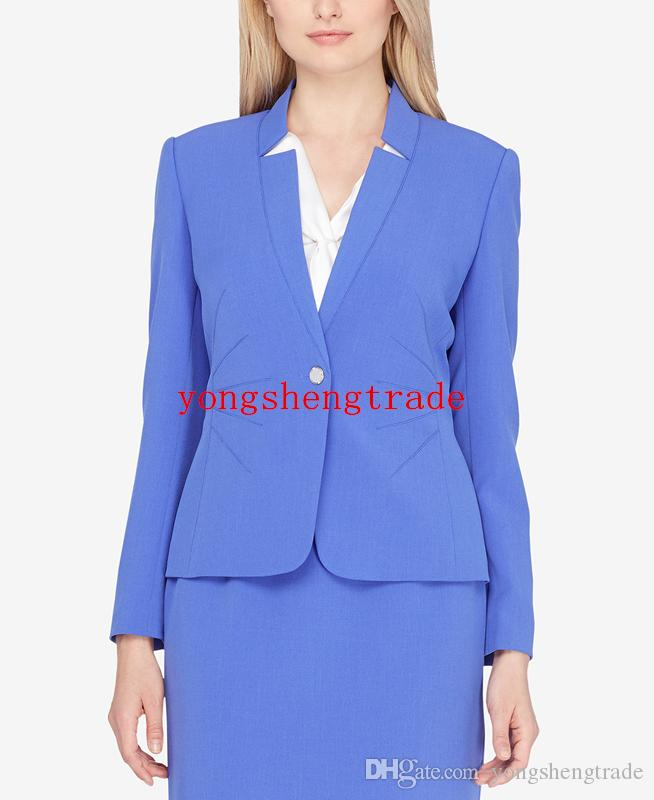Design Star-Neck Skirt Suit Custom Made Lavender Women Suit Perfect For Any Occasion