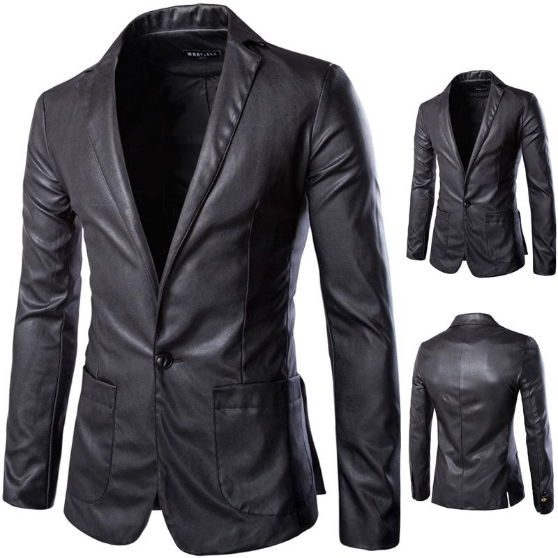 2016 New Style Fashion Mens Leather Jacket Brand Leather ...