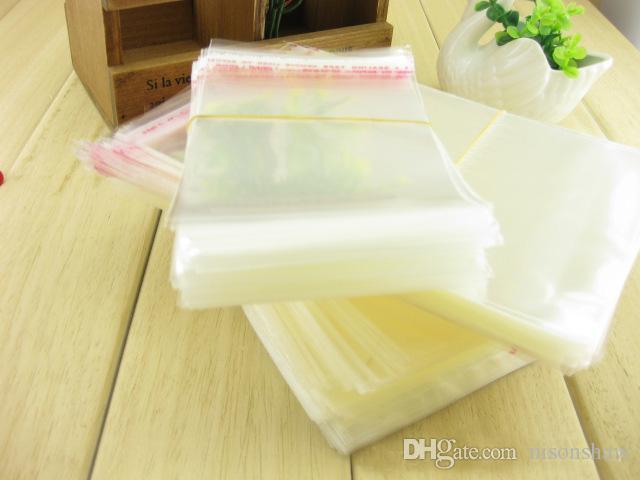 5 * 7cm, / autoadesivo della guarnizione di OPP bag - trasparente sacchetto poli di plastica con l'auto-sigillato, regalo / pacchetto di gioielli