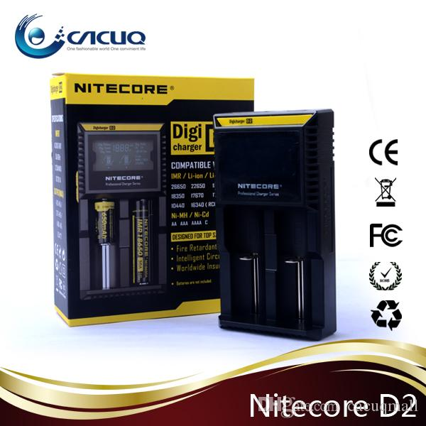 Nitecore D2 Charger Battery 18650 26650 20700 Cell Smart Charger Nitecore D4 US EU UK Plug 100% Authentic