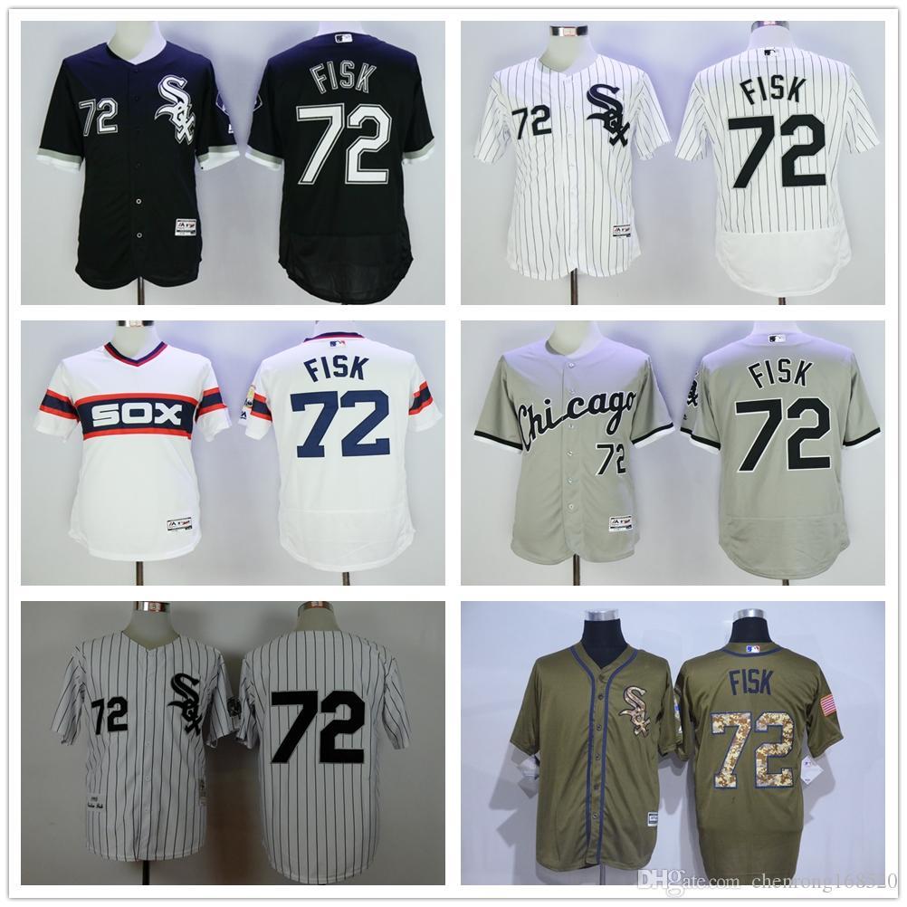 60d8c3285 ... official store online cheap 2016 chicago white sox 72 carlton fisk  jersey men fashion mlb flexbase