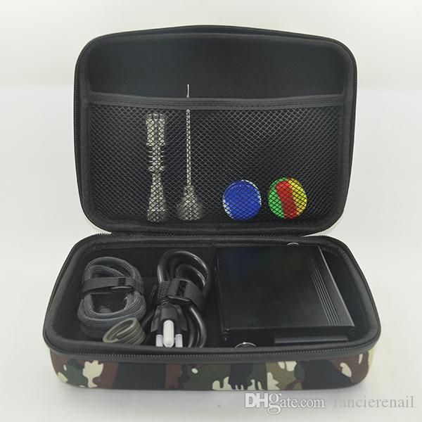 E dab prego Elétrica Prego Caixa Kit Com titânio unha 10/16/20 MM Masculino Feminino Controlador de Temperatura caixa de ajuste para vidro Bongs