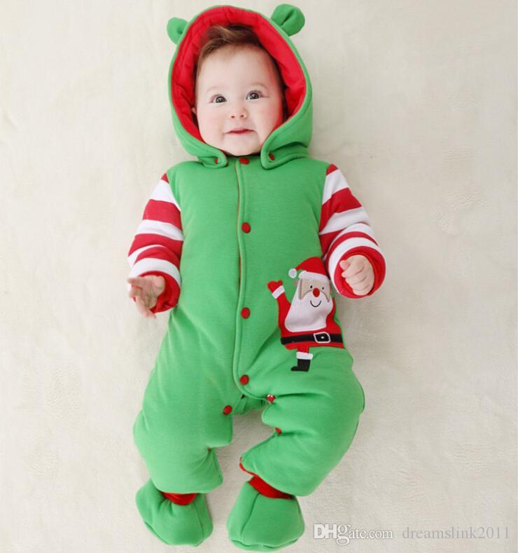 2019 Winter New Born Christmas Santa Claus Baby Boy Super