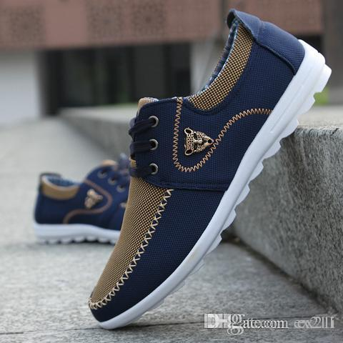 d371977fa6d New Brand Canvas Casual Men Shoes British Loafers Flats Mens Masculino  Jogging Driving Shoes Men S Flat Shoes Size 39 46 Sneakers Shoes Geox Shoes  From ...