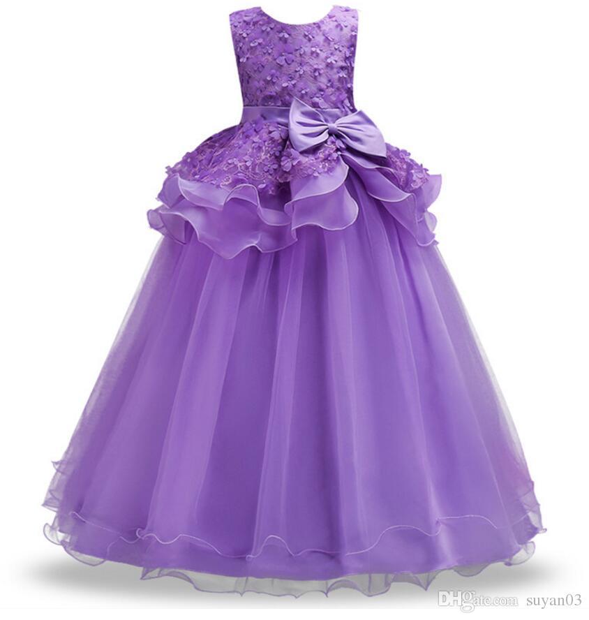 Compre Kid Girl Wedding Flower Girls Dress High End Princess Party ...