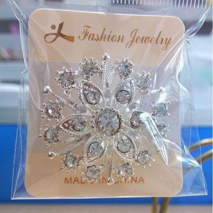 여자 파티 선물 도매 브로치 핀 뜨거운 판매 패션 실버 크리스탈 라인 석 꽃 꽃다발 핀 브로치 도매 0418WH
