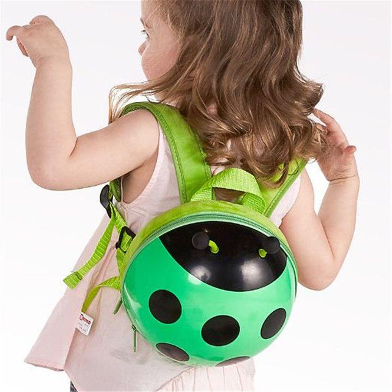 Новый мультфильм Kid безопасности Рюкзак дети ребенок анти потерянный ремень рюкзака 4 цвета божья детсад девушки мальчиков школьные сумки kid359