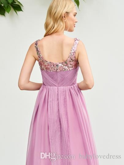 Country princess flower girl dresses for wedding 2018 sequins jewel zipper back chiffon mother and daughter party gowns