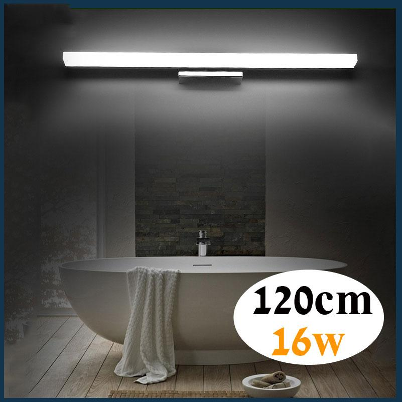 2019 1200mm Long Led Bathroom Mirror Light 85 265v 16w Led Bedroom Vanity Mirror Lamp Foyer