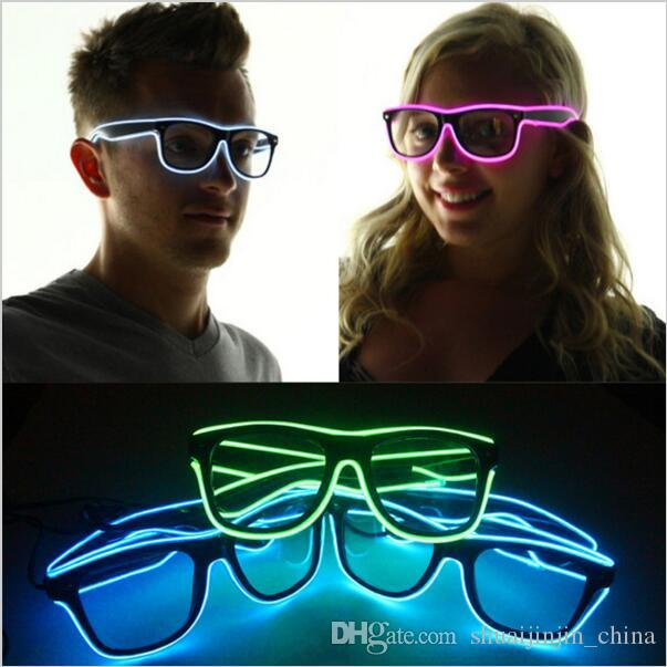 7fe142cfee Simple El Glasses El Wire Fashion Neon LED Light Up Shutter Shaped Glow Sun  Glasses Rave Costume Party DJ SunGlasses YYA567 Mirrored Sunglasses Heart  ...