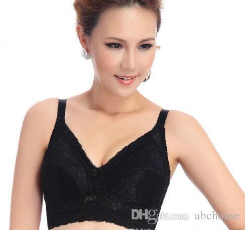 Mais barato roupa interior das mulheres full cup peito grande tamanho sem jantes significativamente menor com magro sexy lace lingerie bra frete grátis