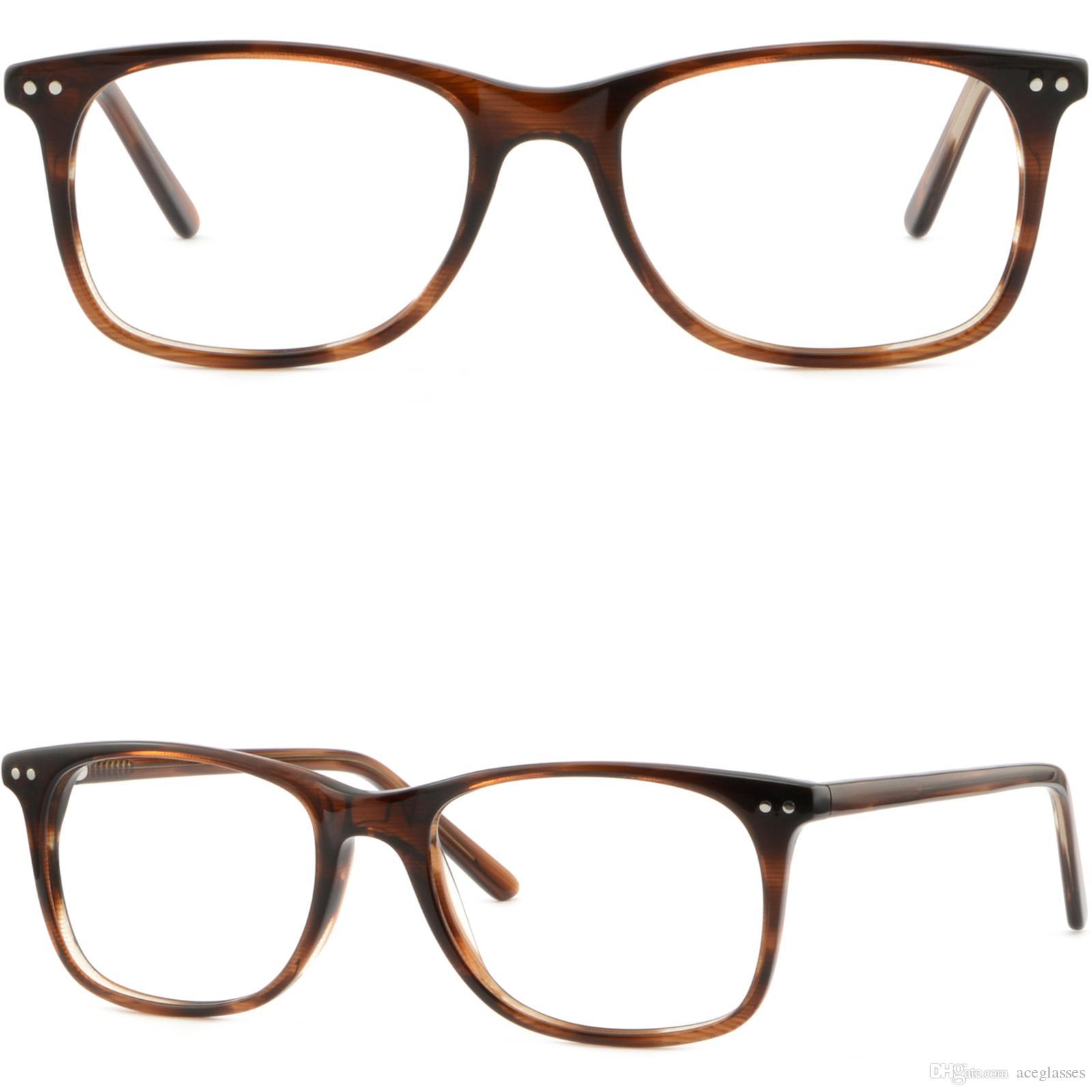 Thin Light Plastic Frame Spring Hinges Men Women Glasses Shiny ...
