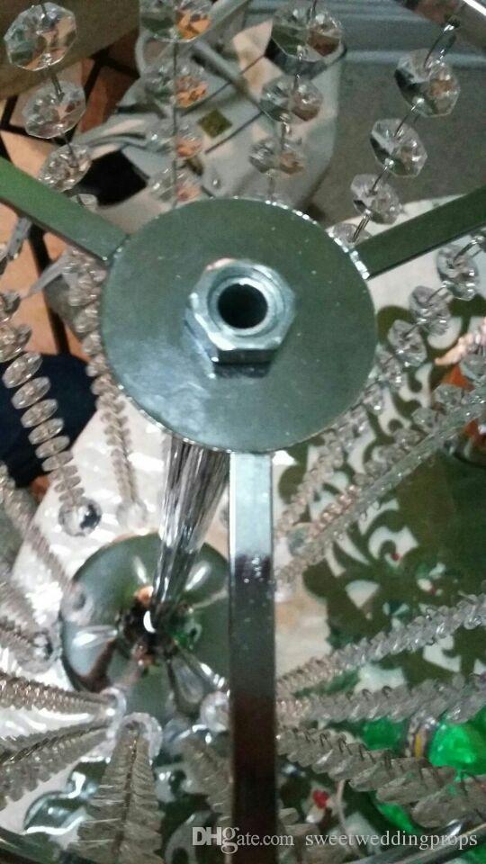 Centrotavola da sposa in cristallo acrilico / centrotavola da tavolo, altezza 15 cm, nave libera, arredamento da sposa