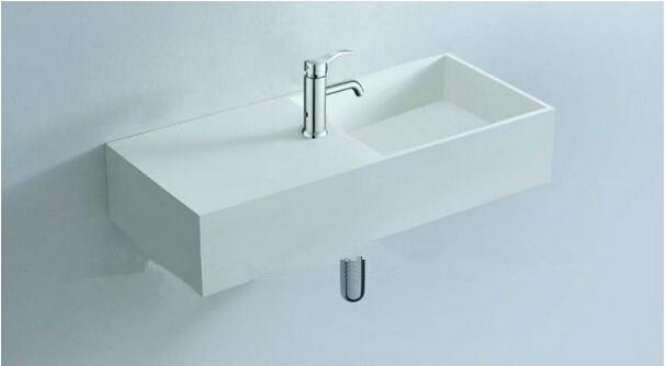 Superb 2017 Bathroom 750mm Wall Hung Or Vanity Counter Top Basin Solid Surface  Stone Matt White Wash Basin Rs3817 From Hansen_peng, $592.97 | Dhgate.Com