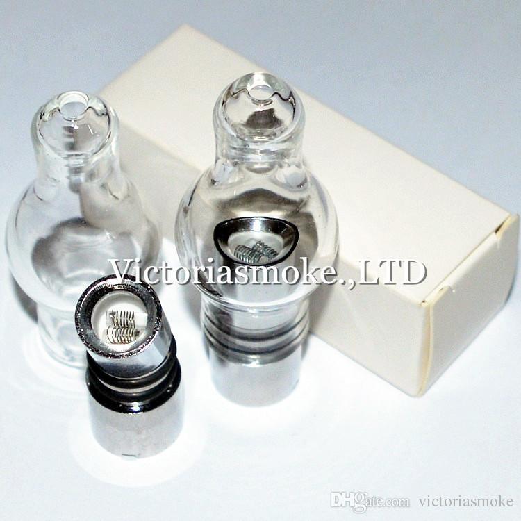 Newest Full Glass Sytle Glass Globe Atomizer wax Vaporizer bulb glass atomizer for EVOD battery 510 thread battery ecigs wax Vaporizer ecigs