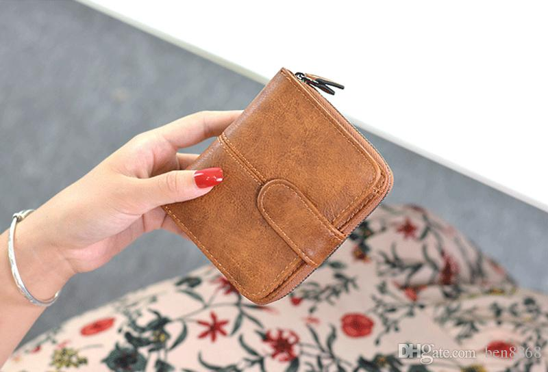 2017 Hot Selling!Fashion Women Short Hasp Wallet Doll Polish PU Leather Purse Multifunction Clutch Small Change Clasp Money Bag