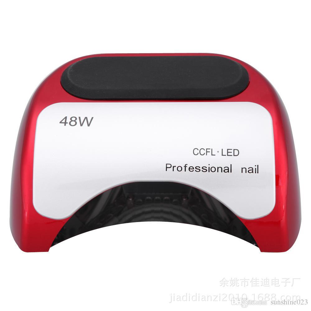 Sıcak satmak 48 w 110 v 220 v ABD AB AU İNGILTERE Tak LED Jel Tırnak Kür UV Işık Lambası Nail Art Lehçe Manikür için LED Tırnak Kurutucu Lambası