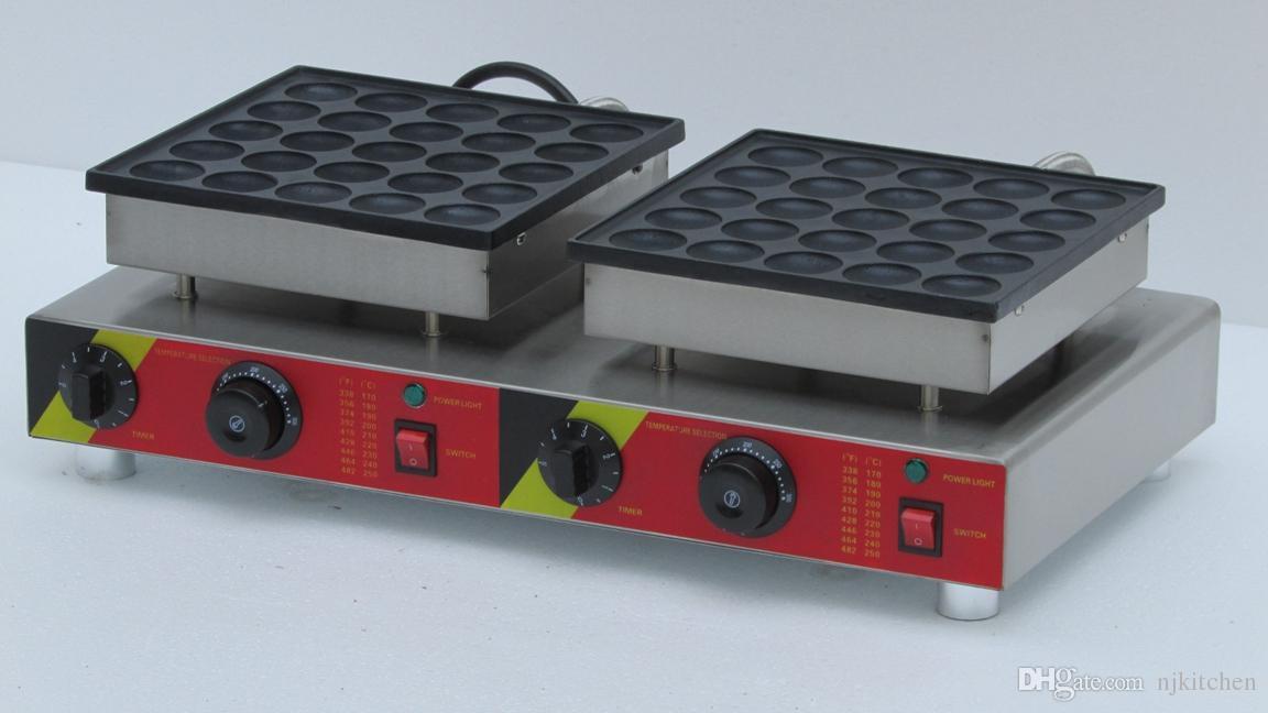 Livraison gratuite 50 trous Utilisation Industrielle Non-bâton Électrique mini néerlandais fabricant de crêpes