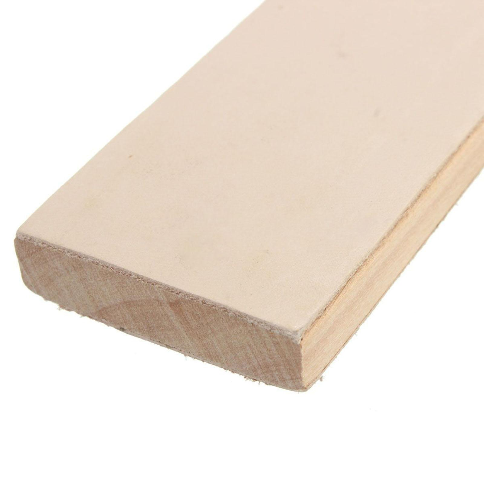 New Wooden Handle Leather Sharpening Strop Handmade Razors Polishing Board For Home Tools