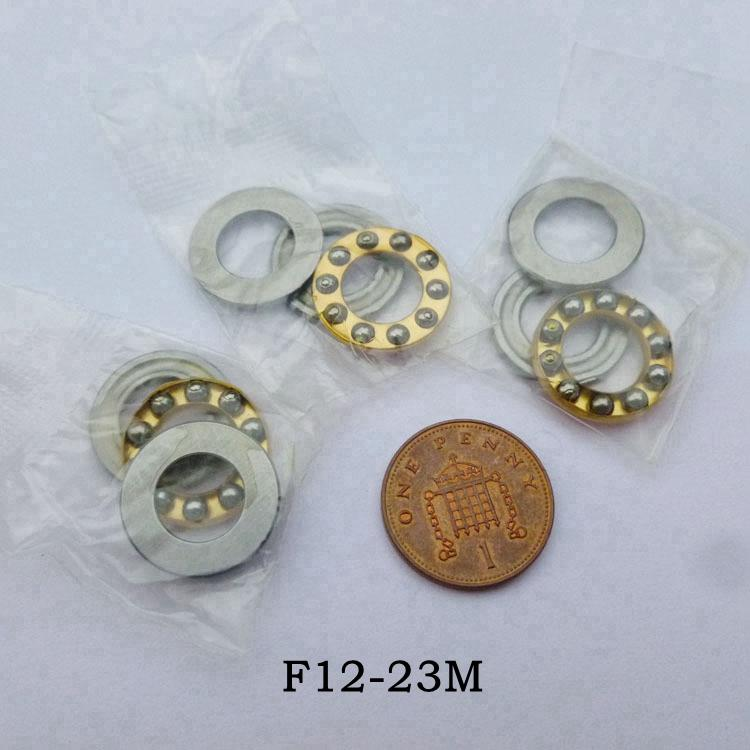 2pcs Axial Ball Thrust Bearing F12-23M 12x23x7.5mm 3-Parts Mini Plane Bearing