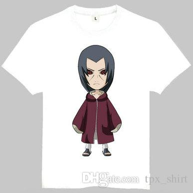 Nagato T Shirt Naruto Pain Rinnegan Short Sleeve Gown Anime Tees