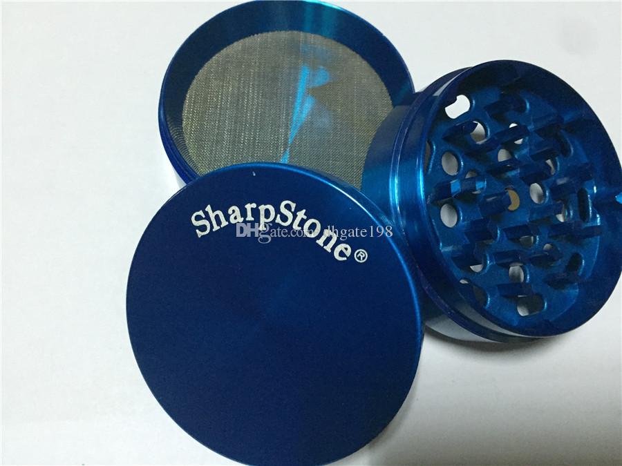 40mm 63mm Best SharpStone® Herb metal gred Stone Sharp Stone Hard توب التبغ مطاحن دخان الأعشاب