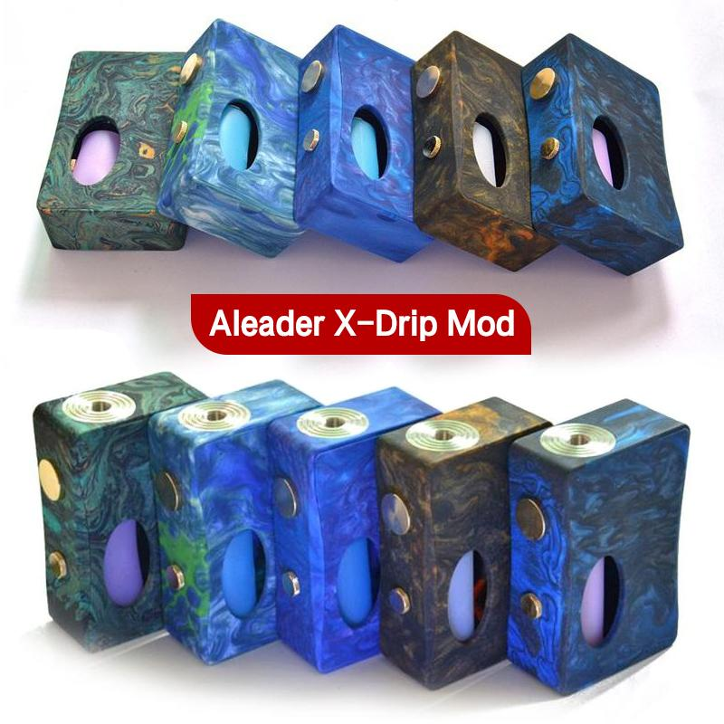 Autentyczny Reader X-Drip Epoksyd Resin Evoxy Box Mod with 7ML Pet Butelka Najnowszy Vape Niereregulowany MOD VS Stentorian RAM 100% Oryginał