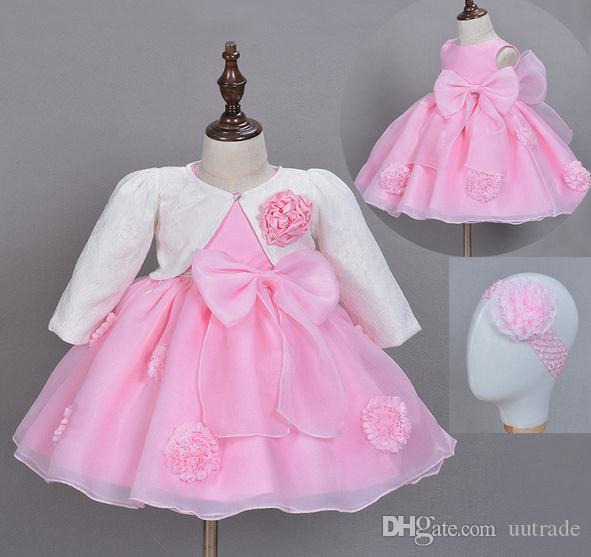 afee20665fae 2016 Autumn winter Outfits Dress Baby Girls Baptism Dress ...