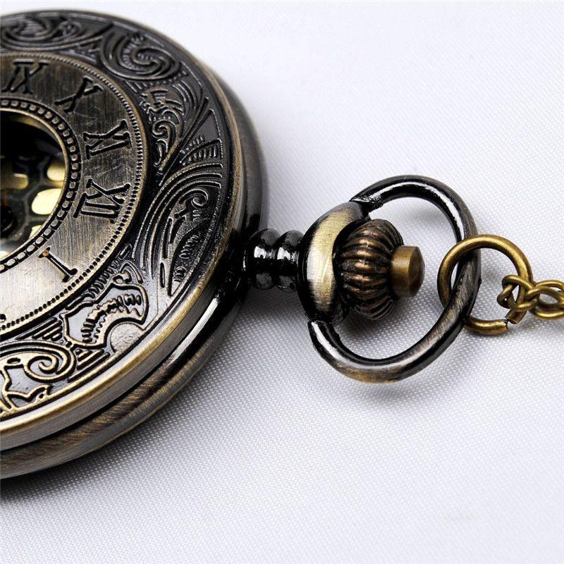 Bronce antiguo Número romano Relojes de bolsillo Collares Flip Locket Reloj de cuarzo Relojes Para mujeres mujeres joyas Regalo de navidad 230217
