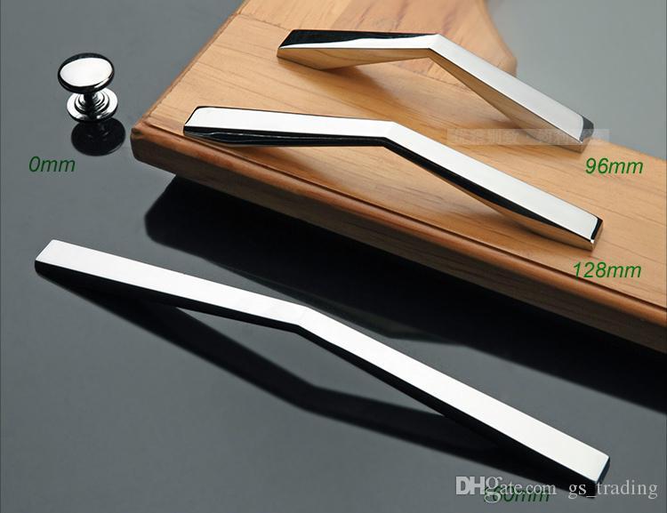 moderno in lega di zinco cromato hardware hardware maniglie porta manopole comò cassetto armadio da cucina armadi armadio porta accessori