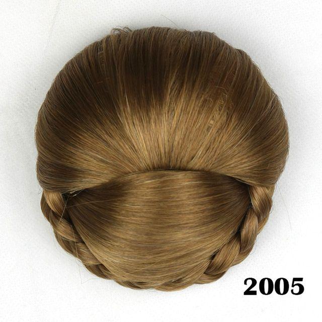 2017 Synthetic Hair High Temperature Fiber Braided Chignon Clip In Hair Bun Donut Roller Hair Piece