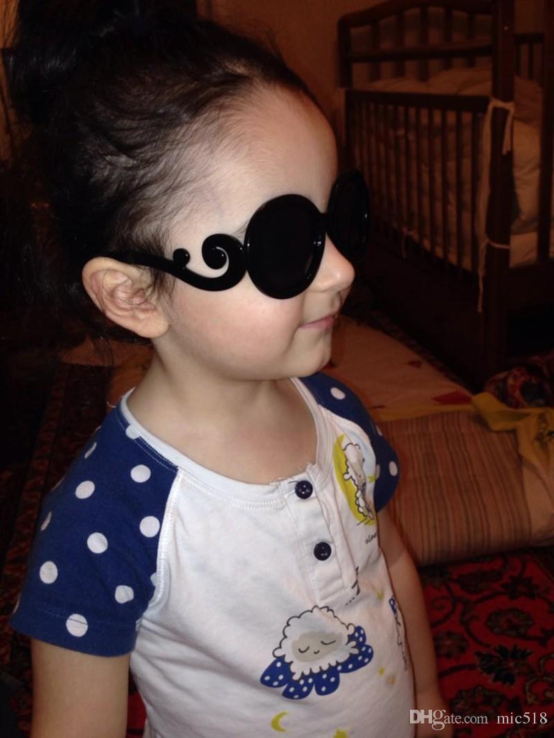 2016 vogue Children Sunglasses vintage cool kids sun glasses eyewear Baby Boys girls Gradient Round Gafas Oculos De Sol
