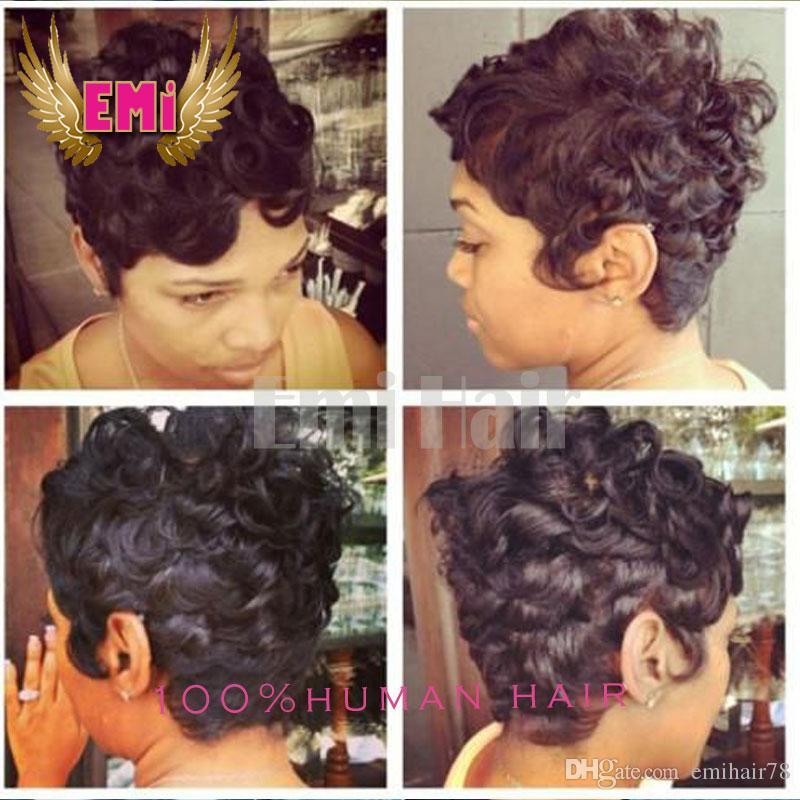 Brazilian Short Curly Human Hair Tight Curly Wigs Short