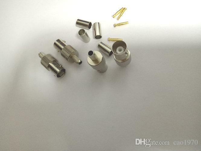 cuivre BNC femelle jack à sertir RG58 RG142 LMR195 RG400 adaptateur coaxial