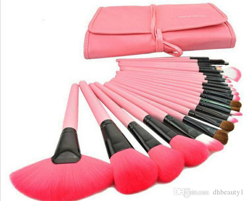 Makeup Brush Sets tech Makeup Toiletry Brush Set Kit Tool + Roll Up Case Brand Cosmetic with logo DHL ship